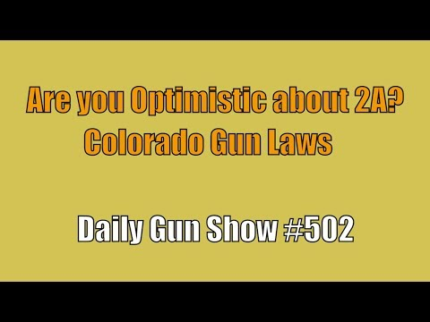 Are you Optimistic about 2A? Colorado Gun Laws  - Daily Gun Show #502