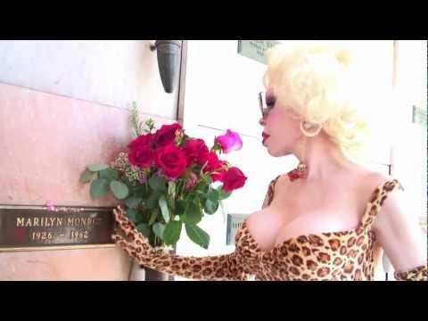 Amanda Lepore Visits Marilyn Monroe's & Dorothy Stratten's Graves