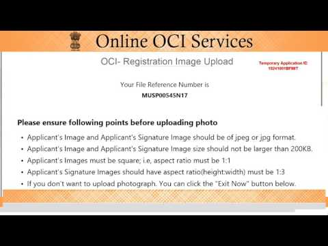OCI Application Process