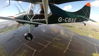 Flying around flooded Somerset in a microlight