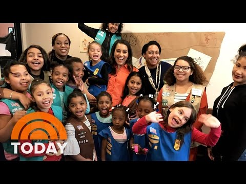 New York City's First-Ever Homeless Girl Scout Troop: 'We're Real Sisters' | TODAY