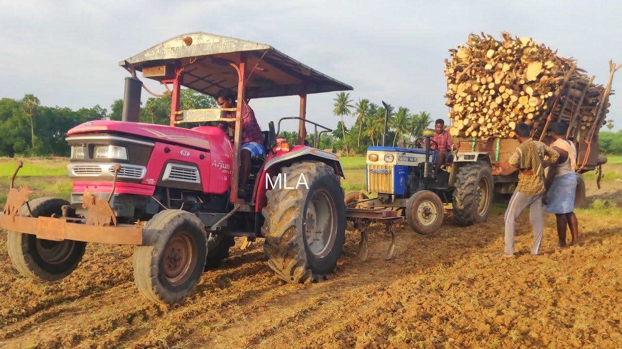 Swaraj 744 FE tractor stuck in mud Mahindra 555 Arjun tractor pulling the swaraj Tractor | CFV |
