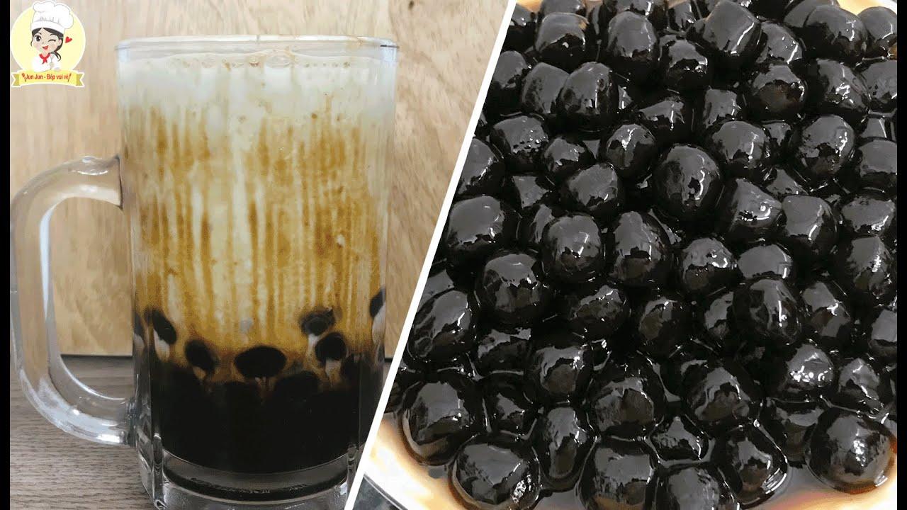 Cách Làm Trân Châu Đường Đen Thui cực dễ mà ngon / Sữa Tươi Trân Châu Đường Đen/Jun Jun Bếp Vui Vẻ