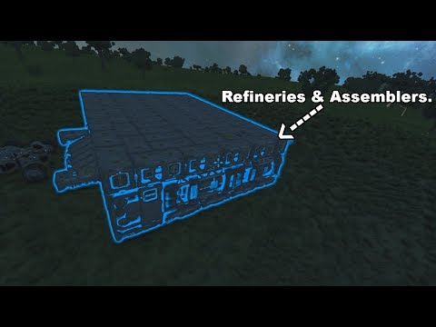 Space Engineers | A Base Made Out of Refineries & Assemblers.