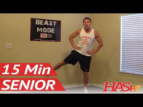 15 Minute Senior Workout - HASfit's Low Impact Workout - Senior Exercises - Exercise for Elderly