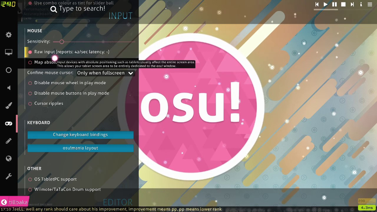 Cursor locking in corner when using tablet with raw input FIX (Osu!)