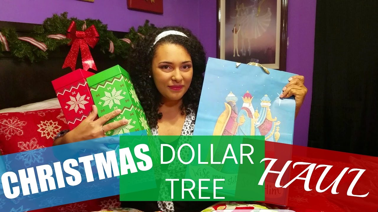 Christmas dollar tree haul boxes bags