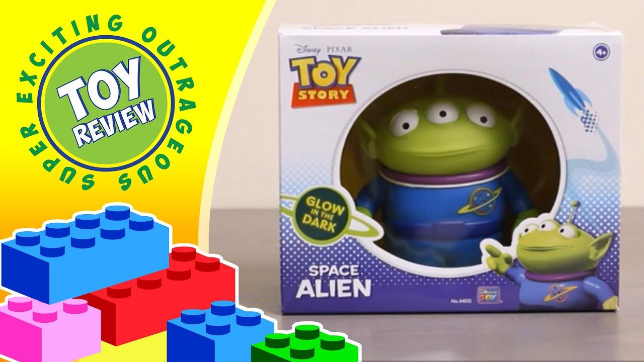 Glow In The Dark Replica Space Alien From Toy Story Disney Pixar Thinkway Toys