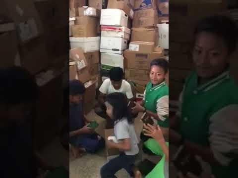 Kids Receiving Bibles