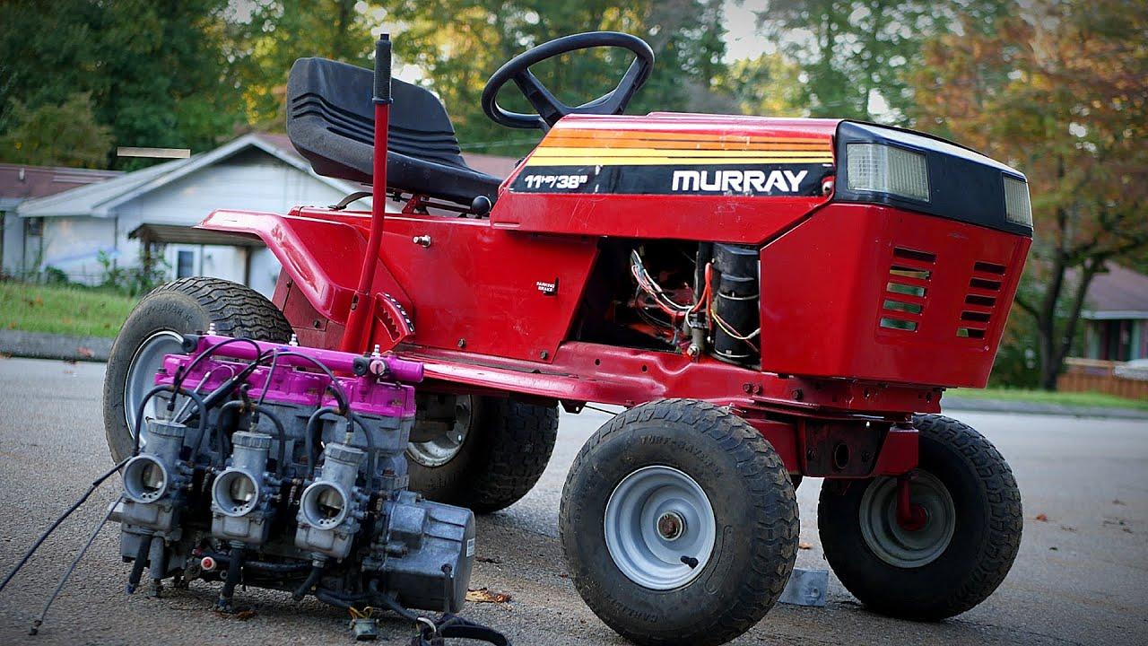 4x4 110Hp Vintage RACING Lawn Mower Build!