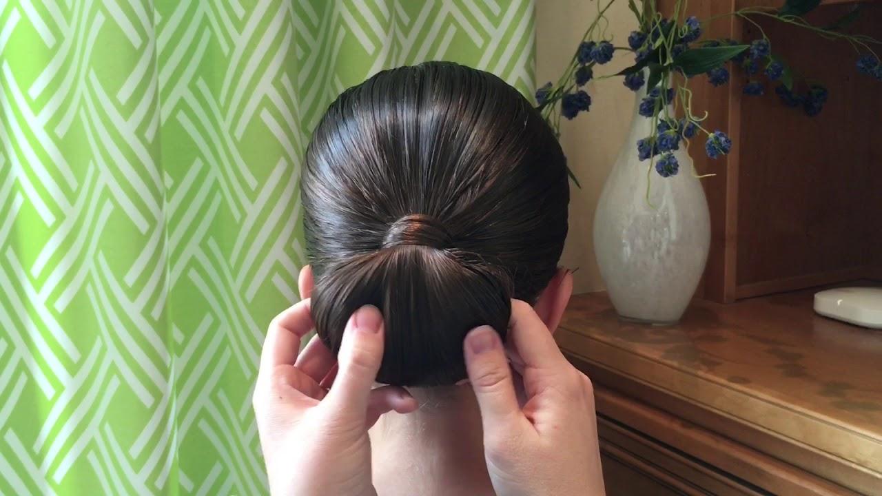 basic ballroom bun