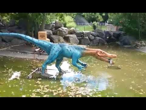 dinosaurs come alive at rosamond gifford zoo in syracuse worldnews