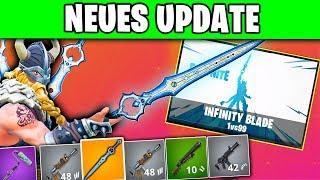 Neues Update Infinity Blade Schwert Skins Tänze Patchnotes Fortnite Season 7 Deutsch German