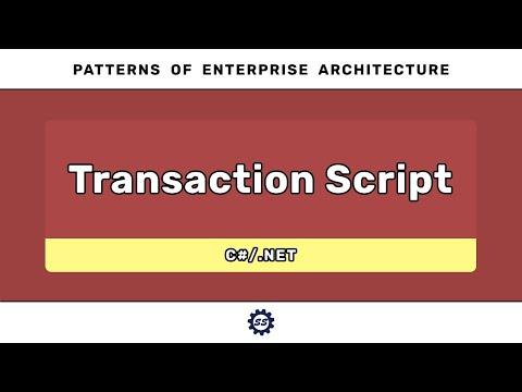 transaction-script-(c#)---patterns-of-enterprise-architecture