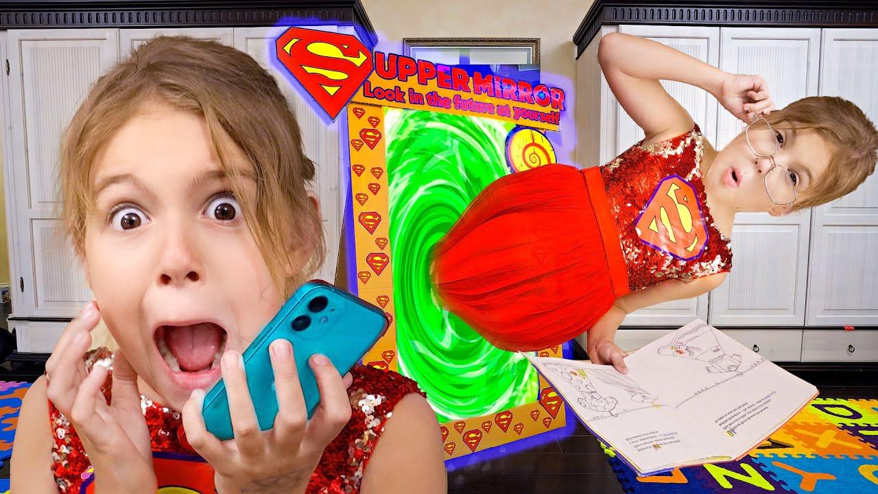 Superheroes and Adventure Mirror Kids Songs with Five Kids
