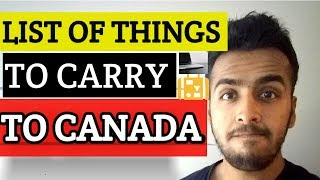 List of things to carry to Canada as a Student