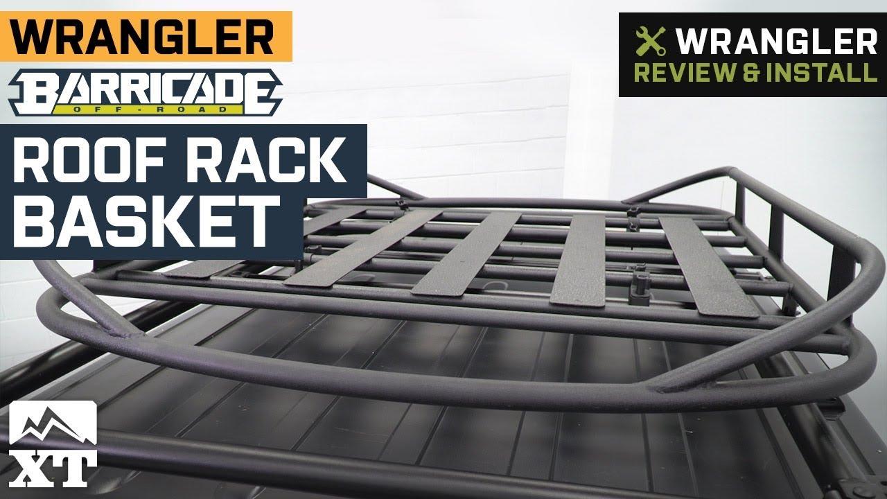 barricade roof rack basket textured black 07 21 jeep wrangler jk jl