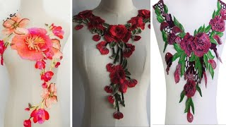 All New Fashion Crochet Floral Lace Beautiful Design || Ambrodry Floral Lace Image Collection