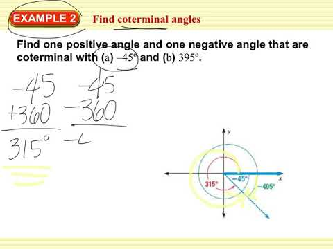 9 2 define general angles and use radian measure - YouTube