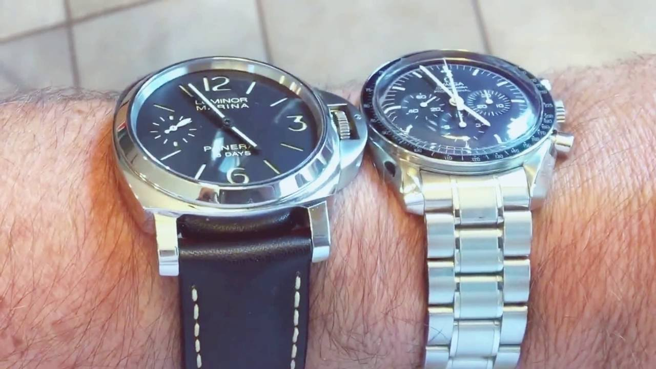 Panerai Vs Omega Size On The Wrist Youtube
