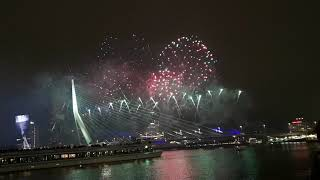 2019 New Year Fireworks LIVE Music Display -  Rotterdam, Netherlands