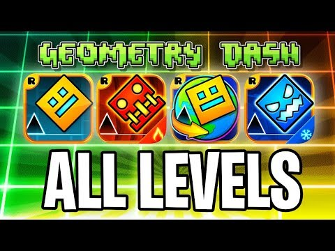 Every Geometry dash level! with coins! (GD, Meltdown, Subzer