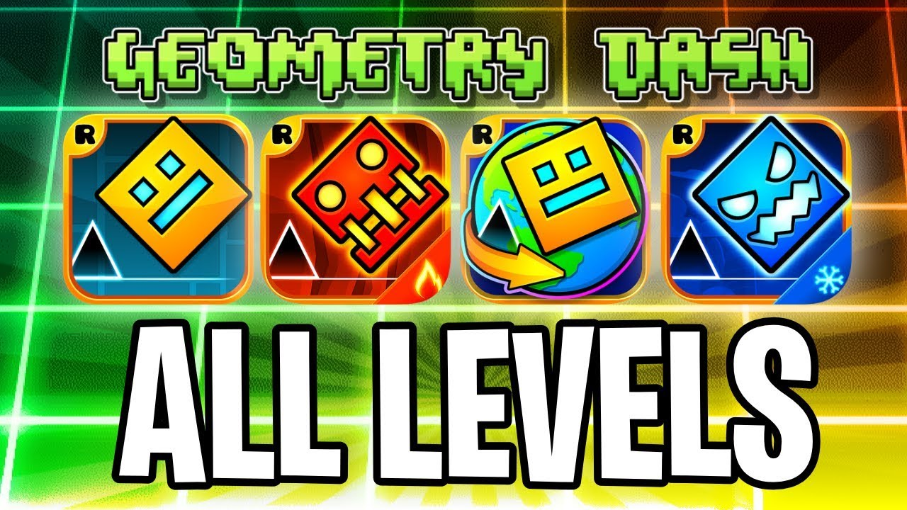 Every Geometry dash level! with coins! (GD, Meltdown, Subzero, World, 37  levels)