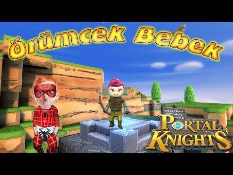 Örümcek Bebek Tek Başına Portal Knights Oynuyor Örümcek Bebeğin Oyun Videoları