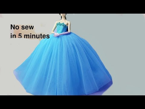 👗 DIY Barbie Dresses Making Easy No Sew Clothes for Barbies Creative Fun for Kids with balloons