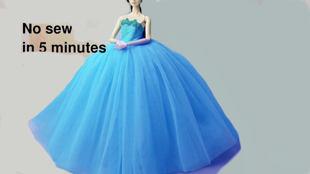 Diy Barbie Dresses Making Easy No Sew Clothes For Barbies
