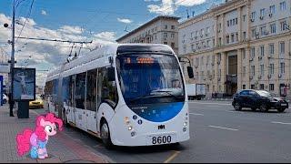 Поездка на троллейбусе БКМ 43303А Vitovt Max Duo № 8600 Маршрут № Т25 Москва