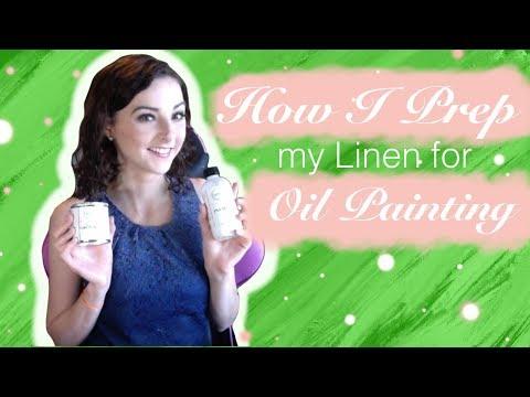 How I Prep my Linen for Oil Painting Tutorial Brittany's Art Vibes Vlog 04 thumbnail