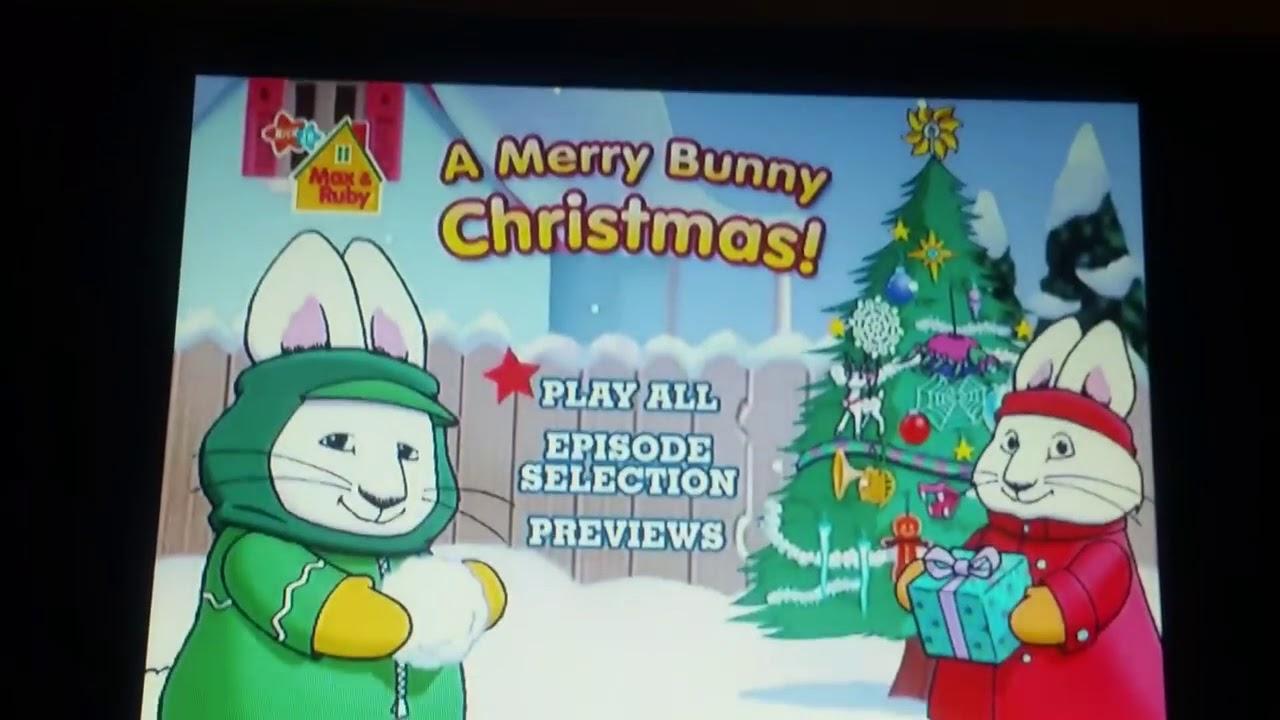 Merry Max Ruby Bunny Christmas Dvd And 10