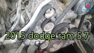 2015 Dodge Ram 1500 5 7 Serpentine Belt Replacement 2011 Ram 1500 Serpentine Belt Youtube