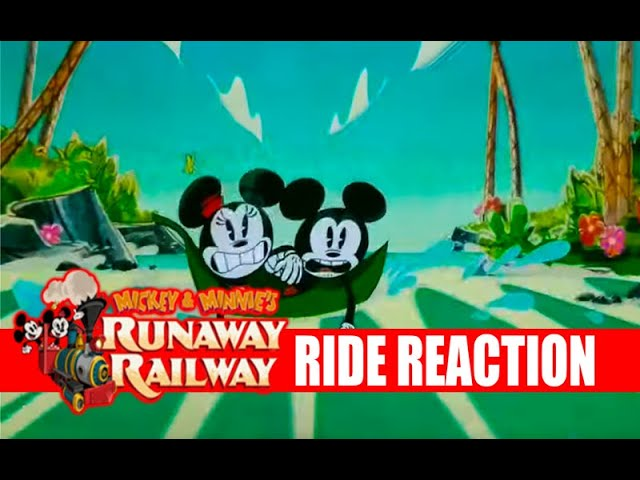 Mickey and Minnie's Runway Railway OPENING DAY First FULL POV RIDE EXPERIENCE With REACTIONS