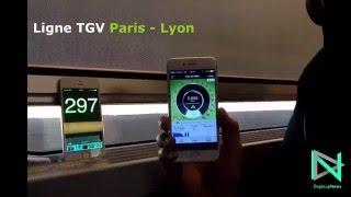 nPerf speed test - 4G Orange TGV SNCF