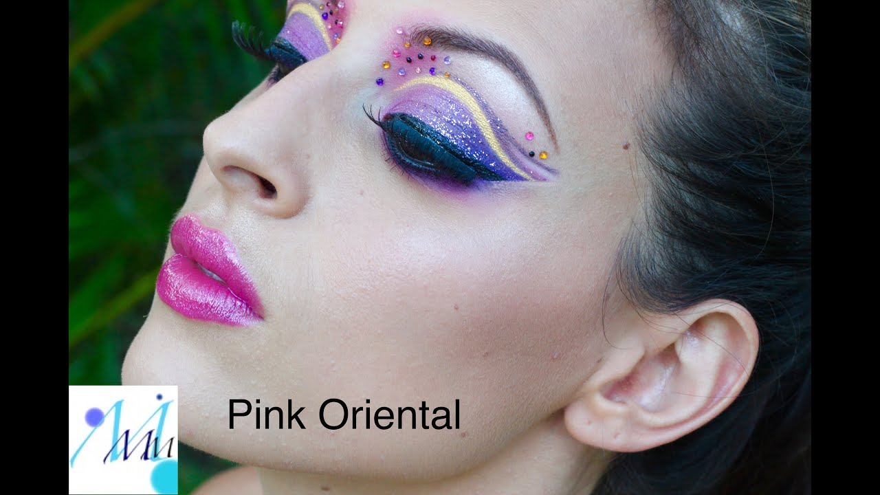 maquillage color color make up pink oriental make up tutorial - Colori Maquillage