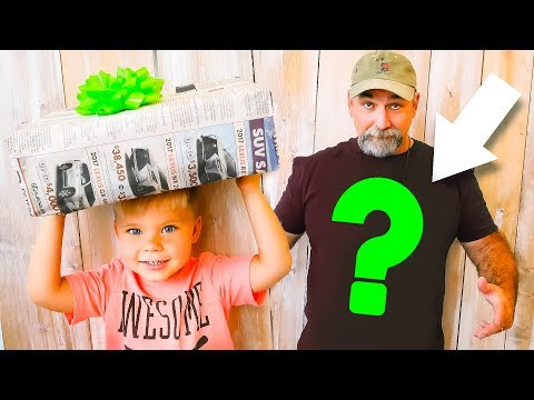 SPECIAL SURPRISE PRESENT UNBOXING FOR PAPA!