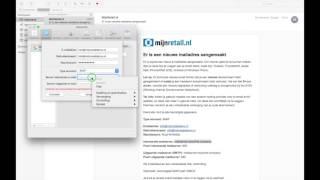MijnRetail.nl: Email instellen op je Mac