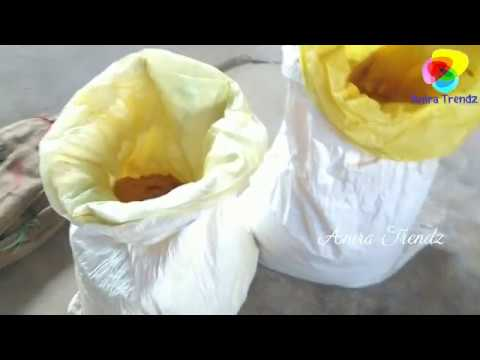 Grinding 50kg Wild Turmeric Kasthuri Manjal - Loads of beauty And Health Benefits