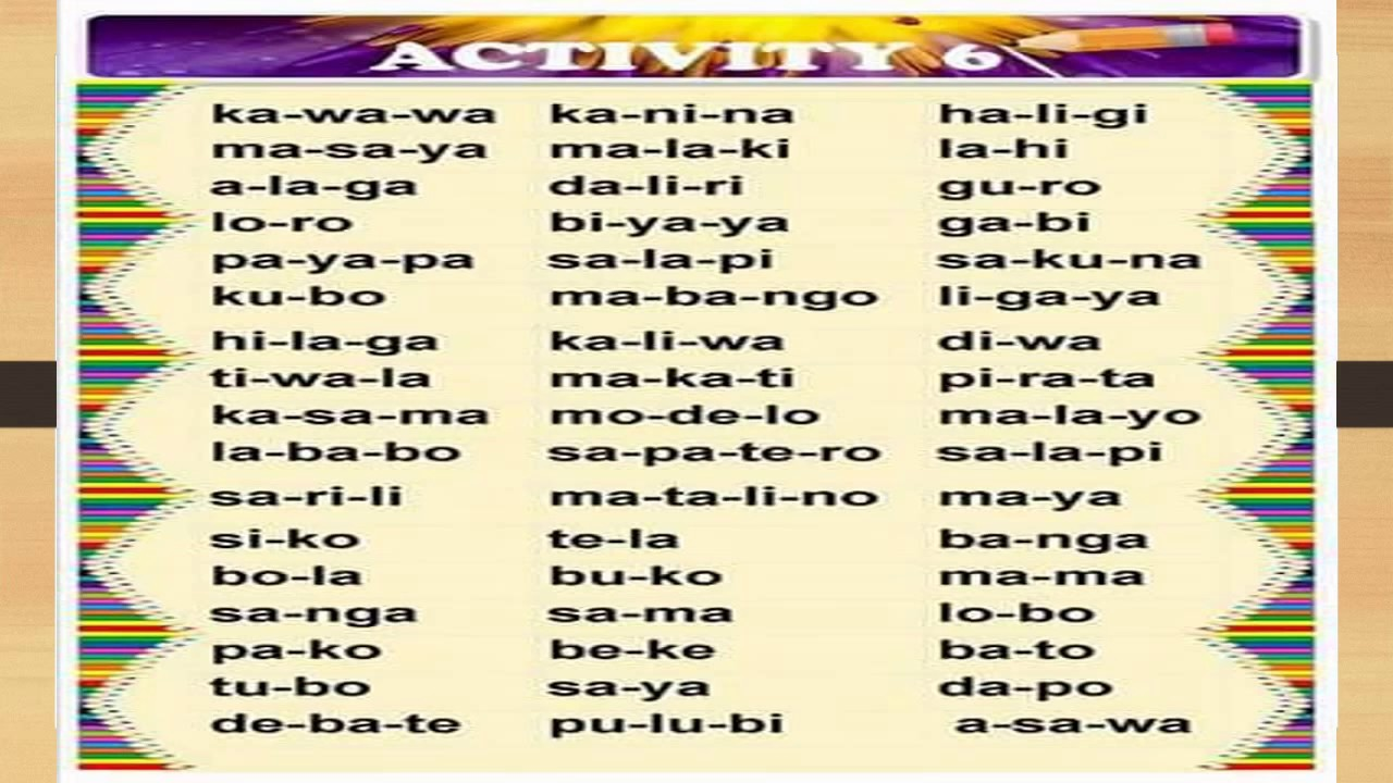 REMEDIAL READING IN FILIPINO FOR KINDER UP TO GRADE 3 SLOW LEARNERS NON  READERS