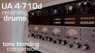 Exploring the Universal Audio 4-710d preamp: Recording drums (4 mics) with tone blending