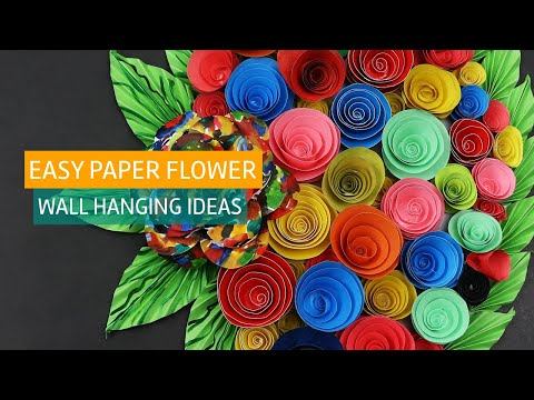 Easy Paper Flower Crafting Wall Hanging Decor Project