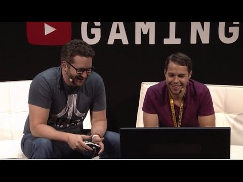 Stallion83 & Burnie Burns Play Lego Jurassic World LIVE at E3 2015 Hosted By RoosterTeeth