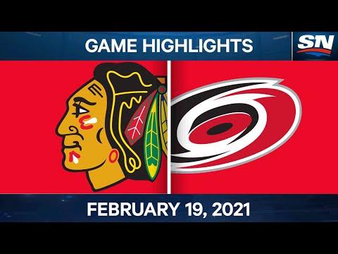 NHL Game Highlights | Blackhawks vs. Hurricanes - Feb. 19, 2021