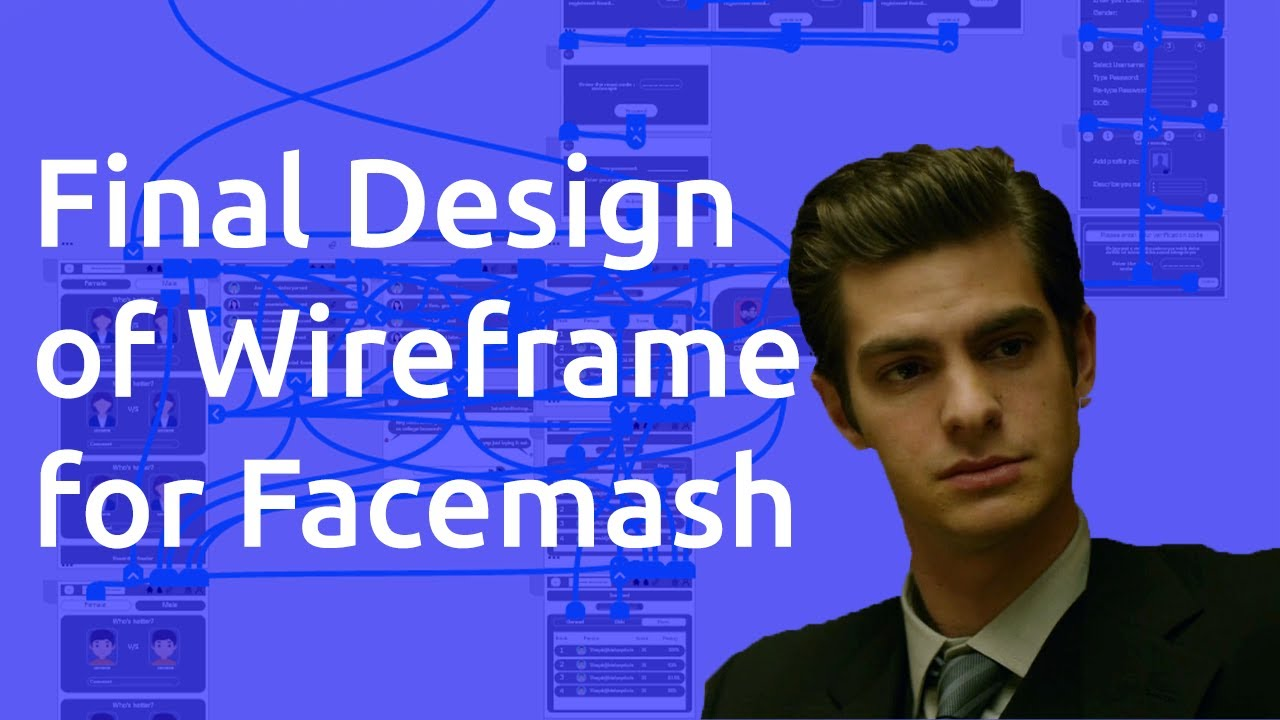 Finally Completing The UI/UX Design Wireframe for Fashmash   How to Make Facemash