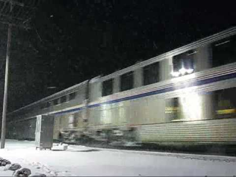 Thumbnail: Extremely rare sight! Inbound Amtrak California Zephyr 6 and inbound Southwest Chief 4 combined at Coal City, IL.! 01/12/09