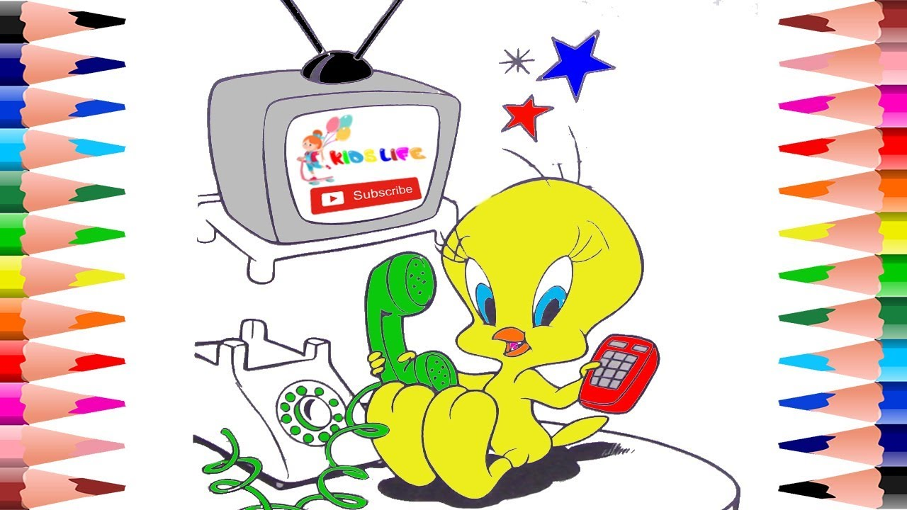 Coloring Tweety Pages For Kids