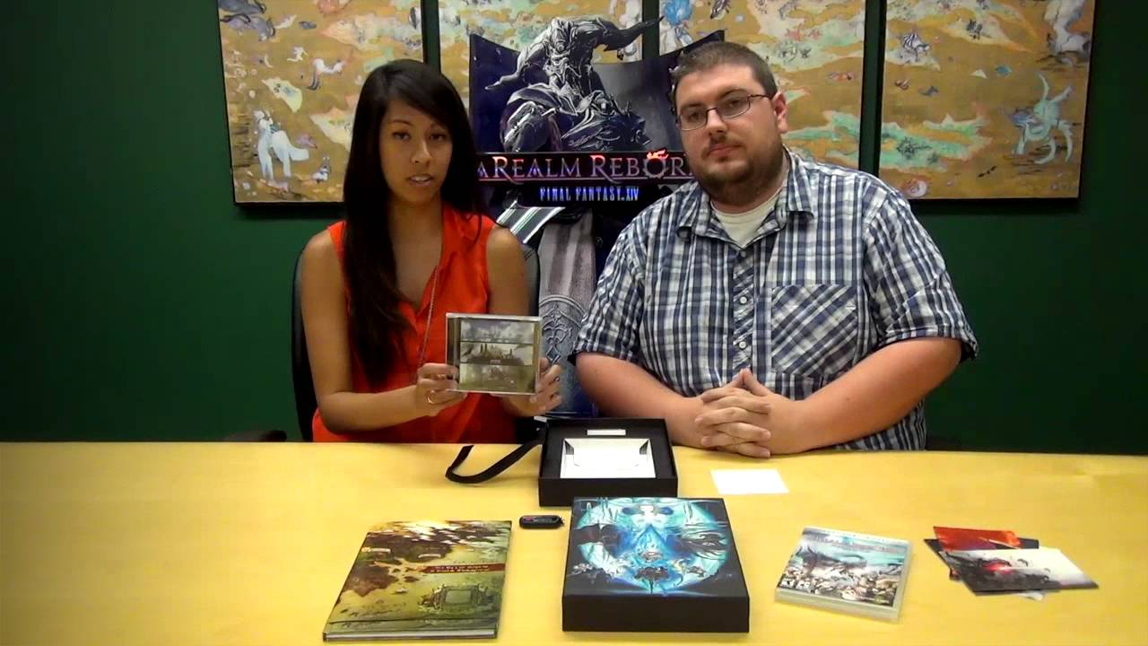 FINAL FANTASY XIV A Realm Reborn NA Collectors Edition Unboxing YouTube
