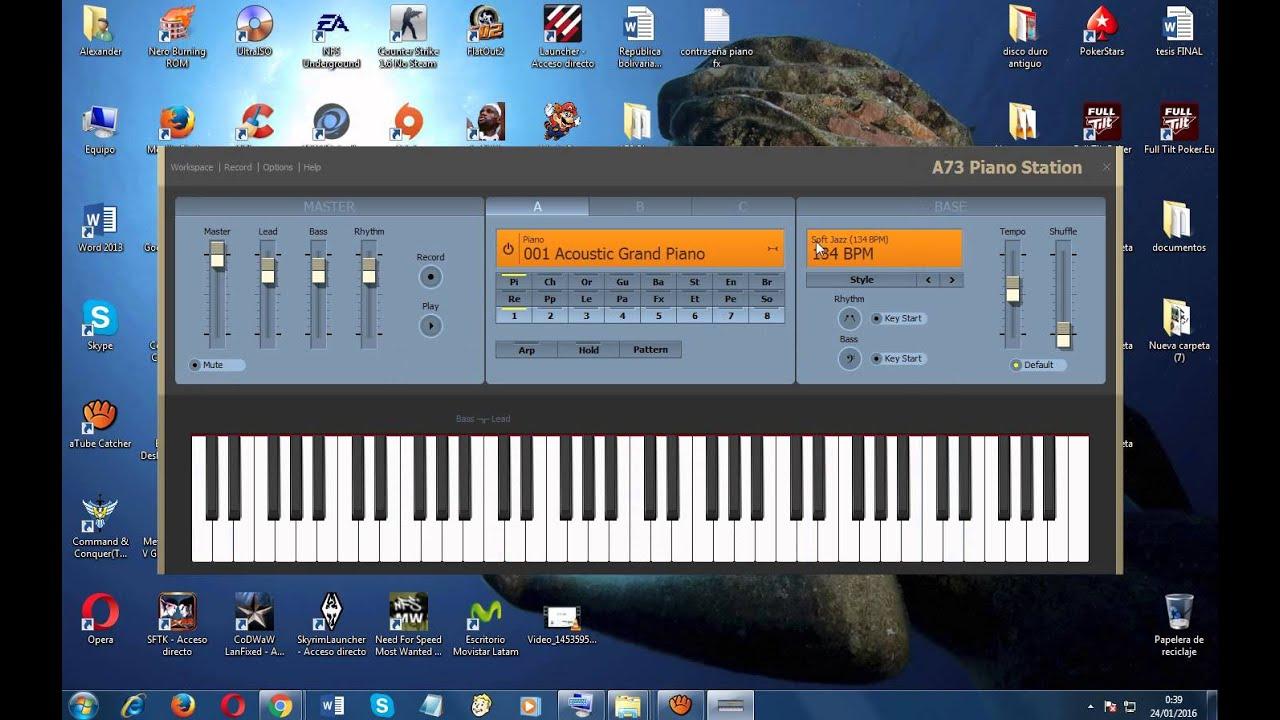 Aplicación para pc, excelente Piano virtual Station virtual, descarga por  mega
